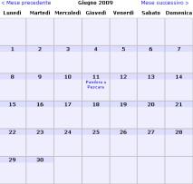 calendario pandora