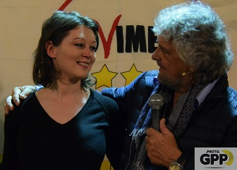 Giulia Gibertoni e Beppe Grillo